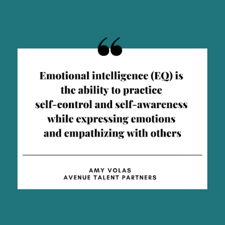 Emotional intelligence (EQ) is the ability to practice self-control and self-awareness while expressing emotions and empathizing with others.