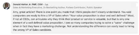 LinkedIn Comments for hiring too soon versus too late